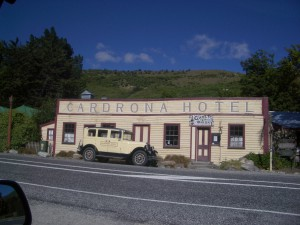 A summertime shot of the Cardrona Hotel between Wanaka and Queenstown.