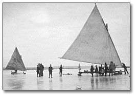 Icesailing on iceboats Tto 1912